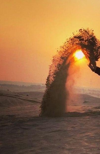 Bühne frei...für tausende Sahara Sandkörnchen