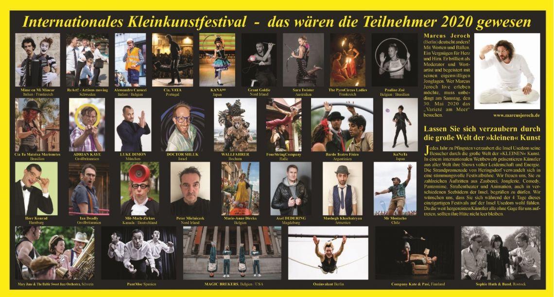 Internationales Kleinkunstfestival Insel Usedom 29.Mai - 1.Juni 2020
