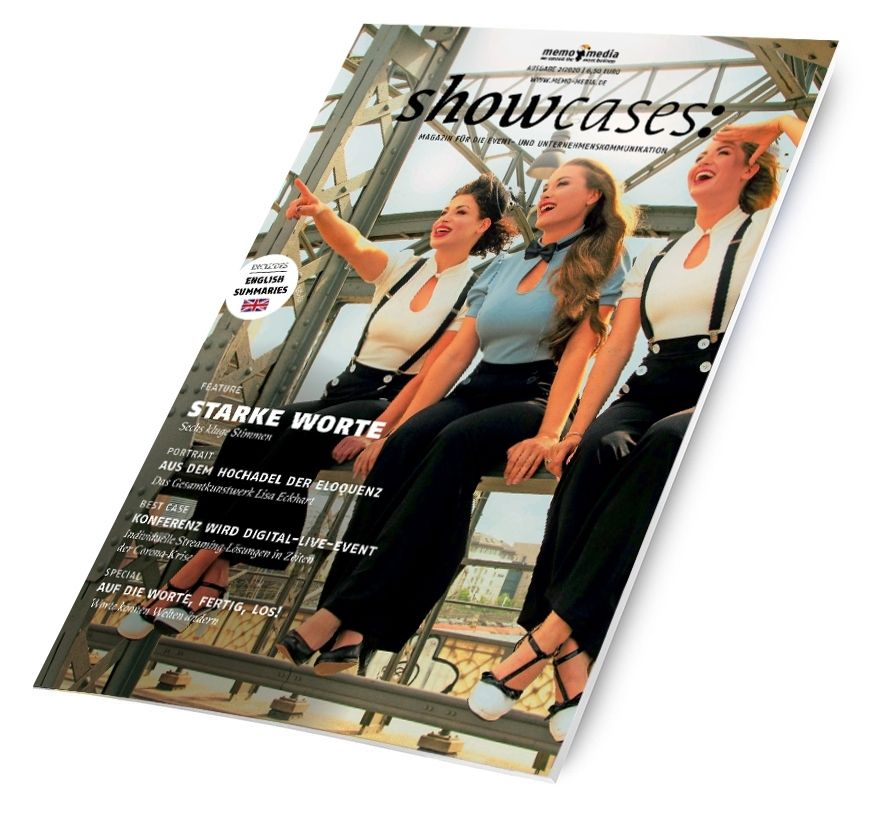 Neue showcases-Ausgabe: Wortakrobaten der Eventbranche