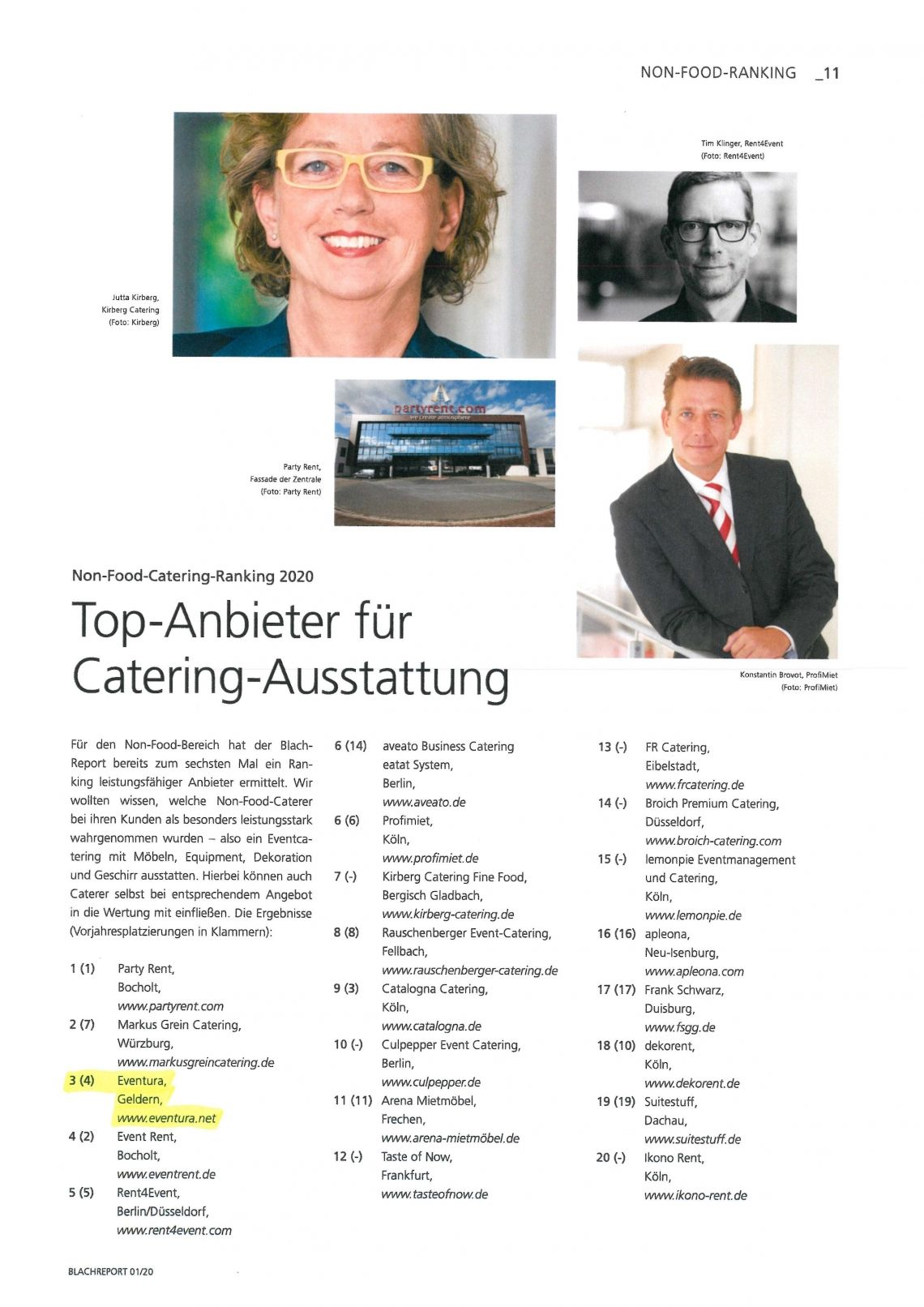 Blach Report: Top-Anbieter für Catering-Ausstattung 2020