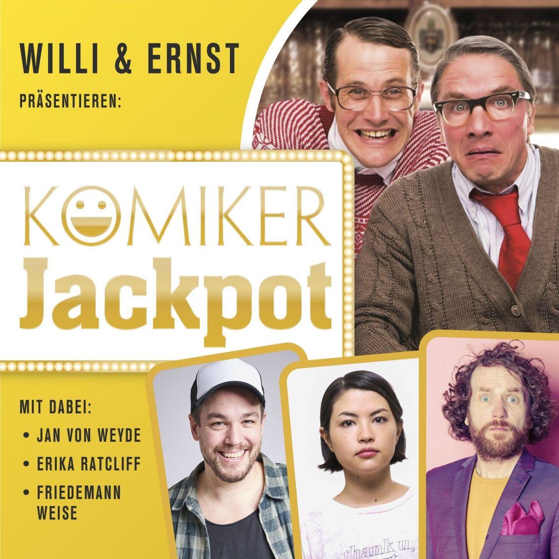 Willi & Ernst präsentieren den Komiker Jackpot: OpenAir auf der Sparkassenbühne