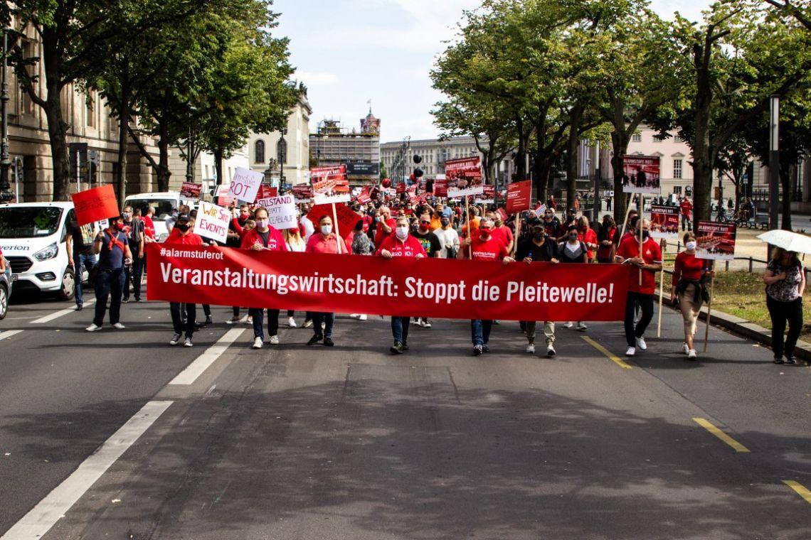Deutsche Veranstaltungswirtschaft kollabiert - Zweite Großdemonstration am 28. Oktober in Berlin