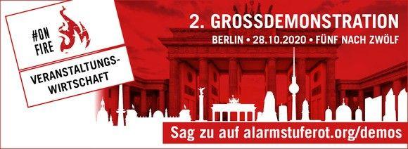 28. Oktober in Berlin: 2. Großdemo der Veranstaltungswirtschaft