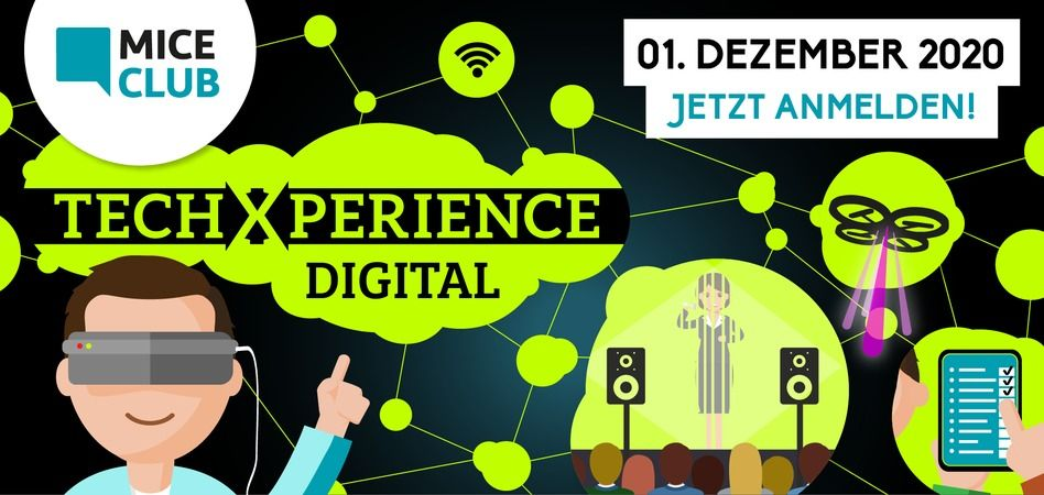 TechXperience DIGITAL 2020: EventTech-Konferenz als Online-Event