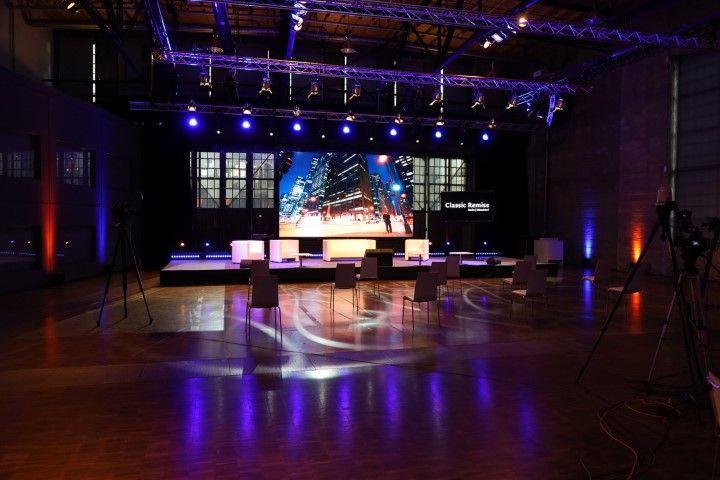 Hybride Events mit Full-Service im Studio der Classic Remise Düsseldorf