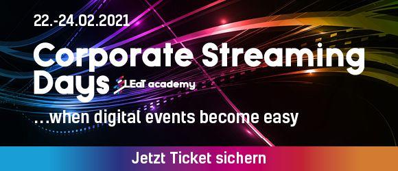 Corporate Streaming Days: Dreitägige Workshopreihe macht fit fürs eigene Online-Event