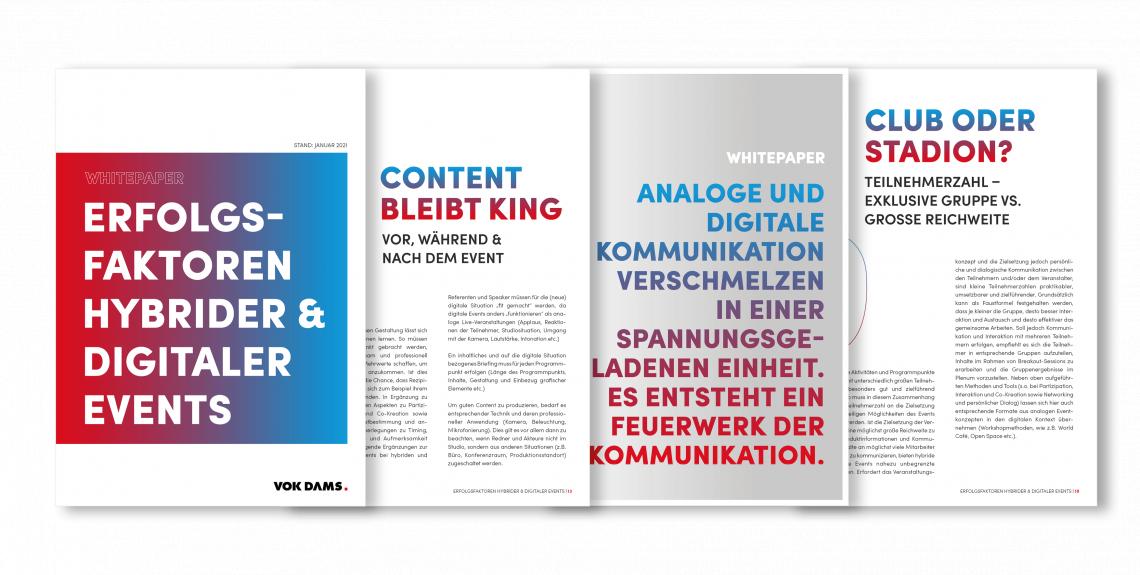 VOK DAMS veröffentlicht neues Whitepaper – Das Learning aus 439+ digitalen und hybriden Events