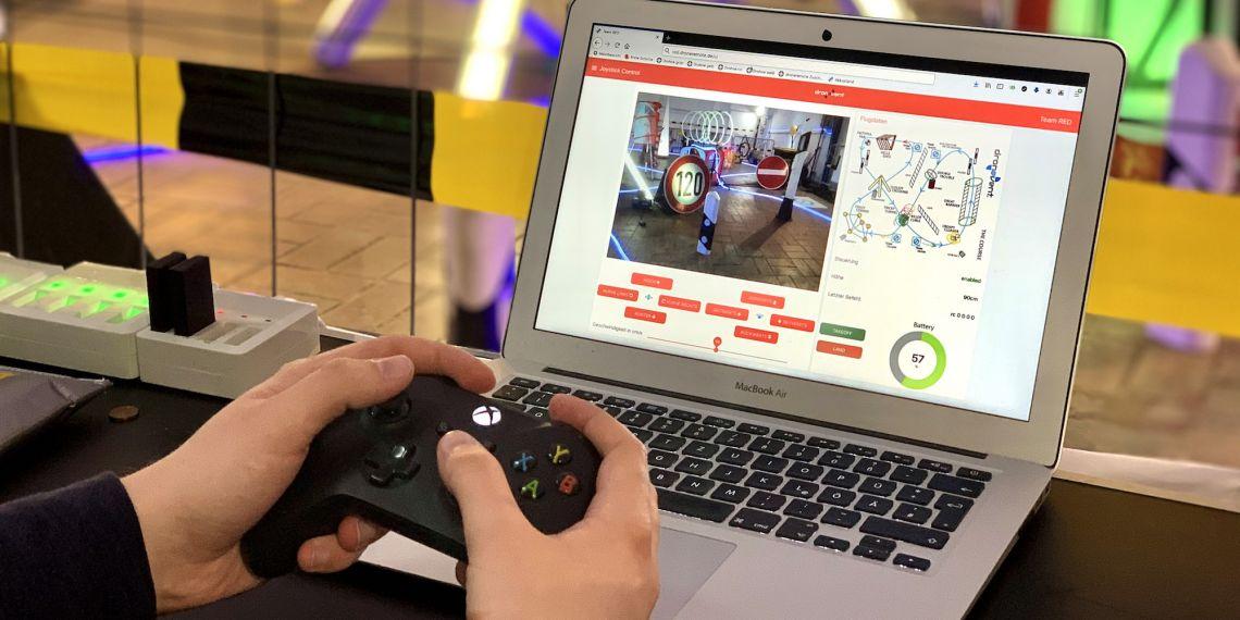 Echte Drohnen-Rennen übers Internet mit Game-Controller