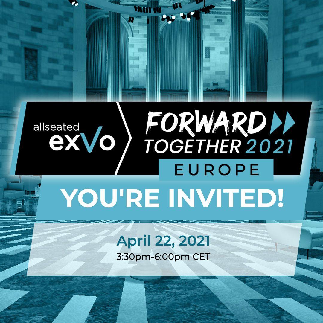 Europäisches Branchenevent in der virtuellen Welt: Allseated FORWARD TOGETHER 2021 EUROPE
