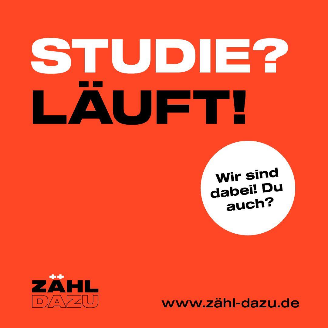 ZÄHL DAZU – nach erfolgreichem Crowdfunding kann am 13.04.2021 die Online Befragung starten
