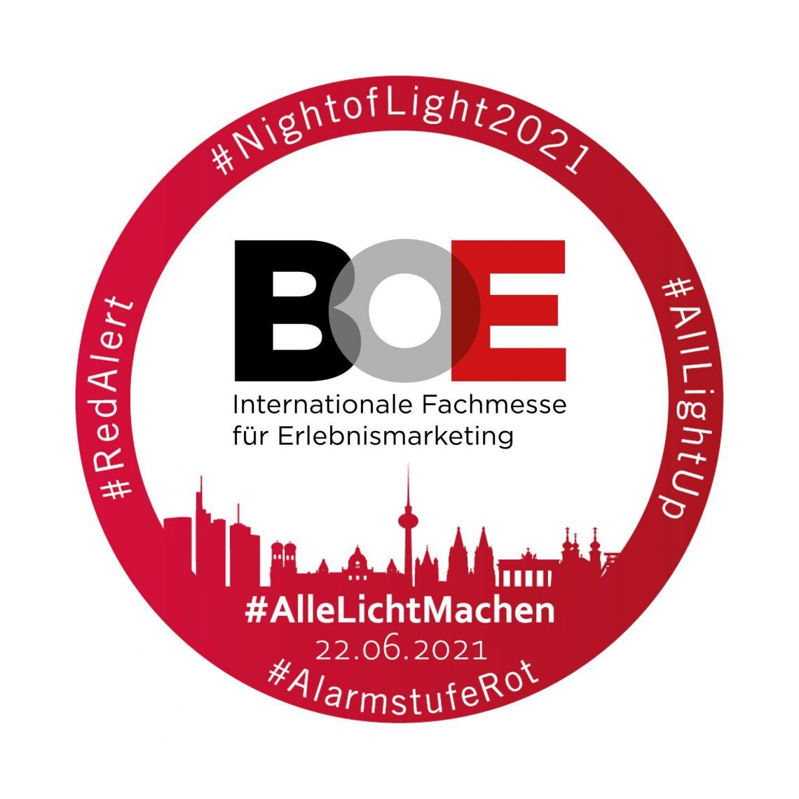 Night of Light 2021: Messe Dortmund leuchtet rot