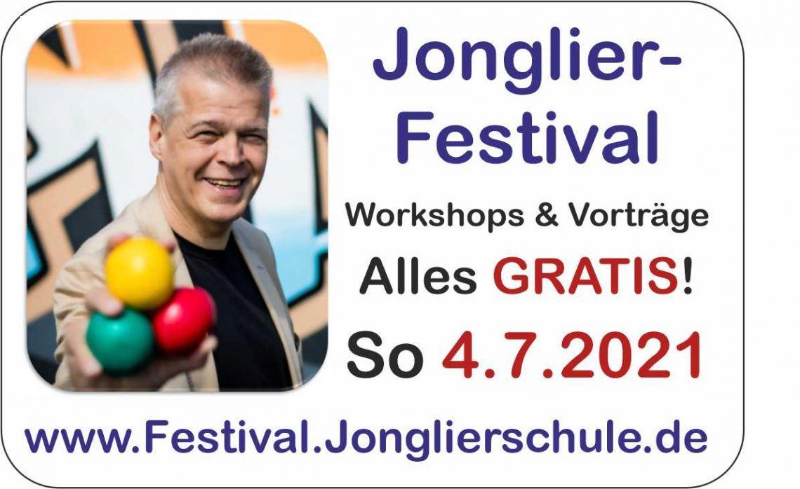Jonglier-Festival am So, 4.7. mit vielen GRATIS-Angeboten!