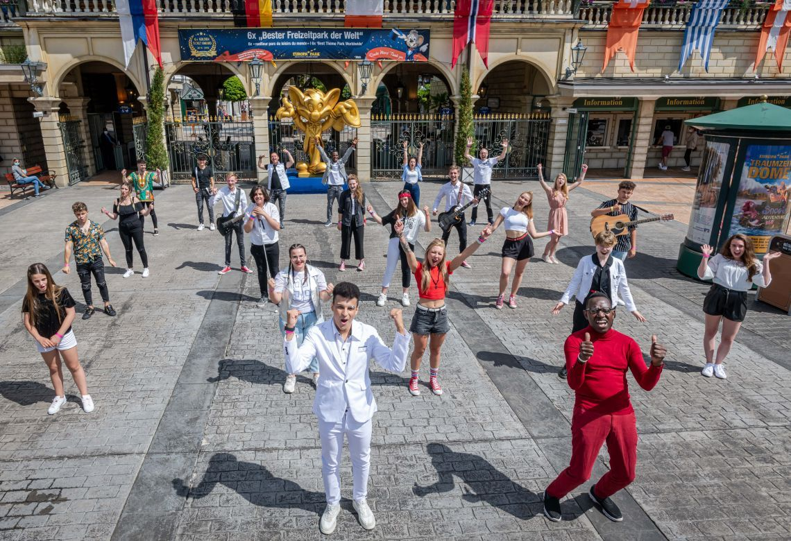 """Produktion des Songcontests """"Welcome To Europe"""" im Europa-Park"""