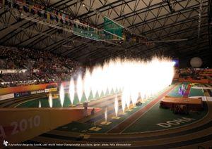 lunatX sorgt für Spezialeffekte bei 13. IAAF World Indoor Championships 2010