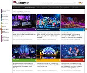 Einfach übersichtlich: Neue Lightpower Webseite online