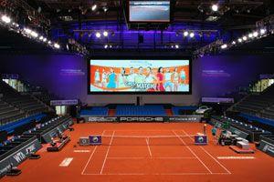 SPIEL, SATZ UND SIEG: satis&fy baut LED-Wand für Porsche Tennis Grand Prix in Stuttgart
