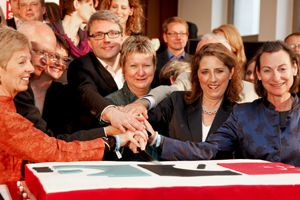 Jutta Kirberg und Team bei '20 Jahre Filmstiftung NRW'