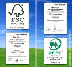 Onlineprinters GmbH mit Umweltsiegeln FSC und PEFC zertifiziert