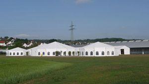 Panorama zum Geburtstag - Losberger-Zeltstadt für Jubiläumsfeier