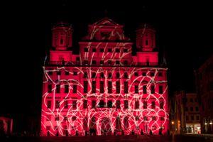 Clay Paky Alpha Spot HPE 1500 für die Illumination des Augsburger Rathauses eingesetzt