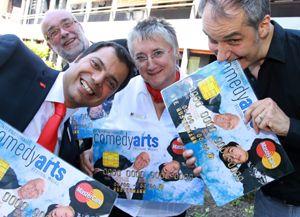 Sparkasse präsentiert neue ComedyArts-Kreditkarte