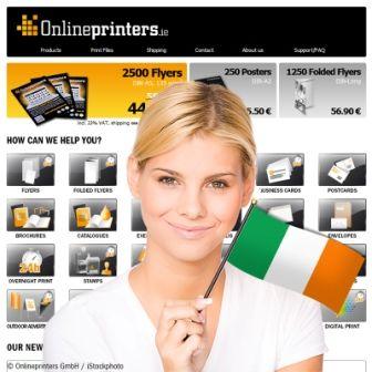 Neuer Onlineshop für Drucksachen in Irland