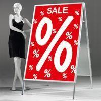 Dekospezialist Woerner - Kaufanreize schaffen mit XXL-Plakatständern