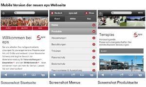 Dienstleister eps mit neuer Webseite online