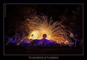 Felsenmeer in Flammen