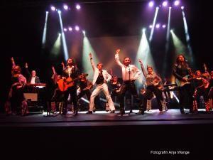 """""""Rummel  Performers"""" im Finale der Massachusetts Bee Gees Show in der Jahrhunderthalle Frankfurt"""