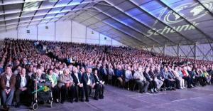 Alu-Zelthalle für Firmen-Jubiläum der Schunk Group