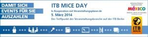 """in touch with the future"" am ITB MICE DAY"