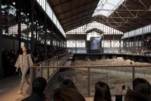 Mobile Eventhallen auf der Barcelona Fashion Show
