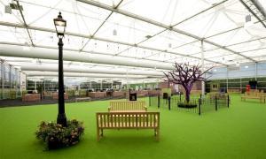 50.000 m² Zelthallen und Flughafen-Terminal für Olympia