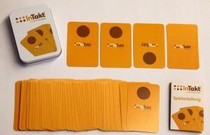 Drum Cafe veröffentlicht sein Team- und Rhythmusspiel InTakt als Kartenversion.
