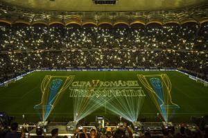 """Großprojektionen beim """"Cupa Romaniei 2014"""" in der National-Arena, Bukarest"""