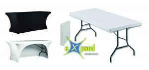 Einfach passend - expand stretch covers Bundle aus Partyklapptisch und Stretch cover