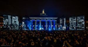 Flexible LED-Wall von XL Video beim Bürgerfest zum 25. Mauerfall-Jubiläum