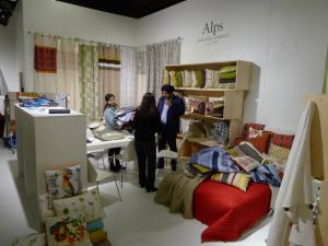 Messe-Design von Kalle Krause für indischen Stoffhersteller ALPS