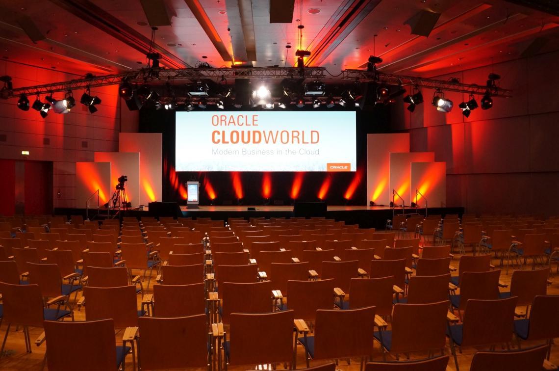Gahrens + Battermann ist Generaltechnik-Dienstleister für Oracle Events im Congress-Center Frankfurt
