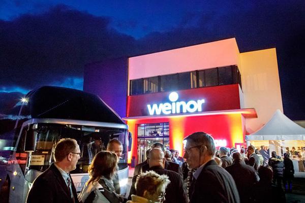 Zauberhafte weinor Showroom-Eröffnung in Köln