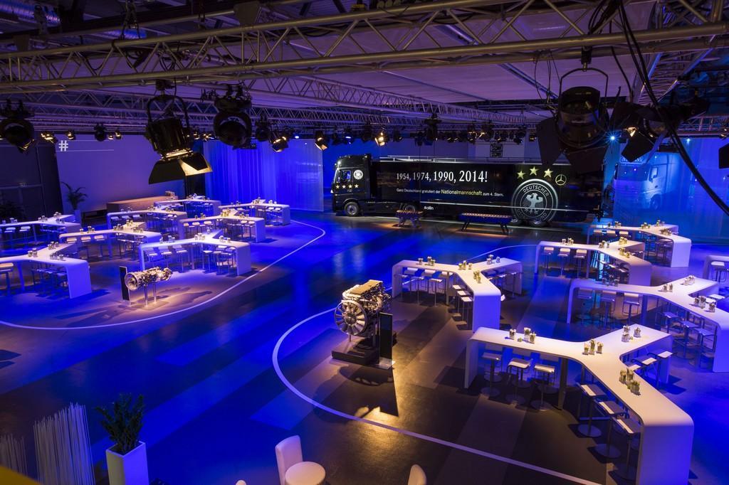 Konferenz-Setting für Daimler Trucks