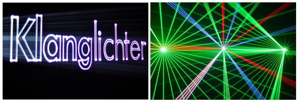 Lasershow Projektionen für Events