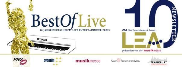 PRG Live Entertainment Award am 14. April 2015 in der Frankfurter Festhalle