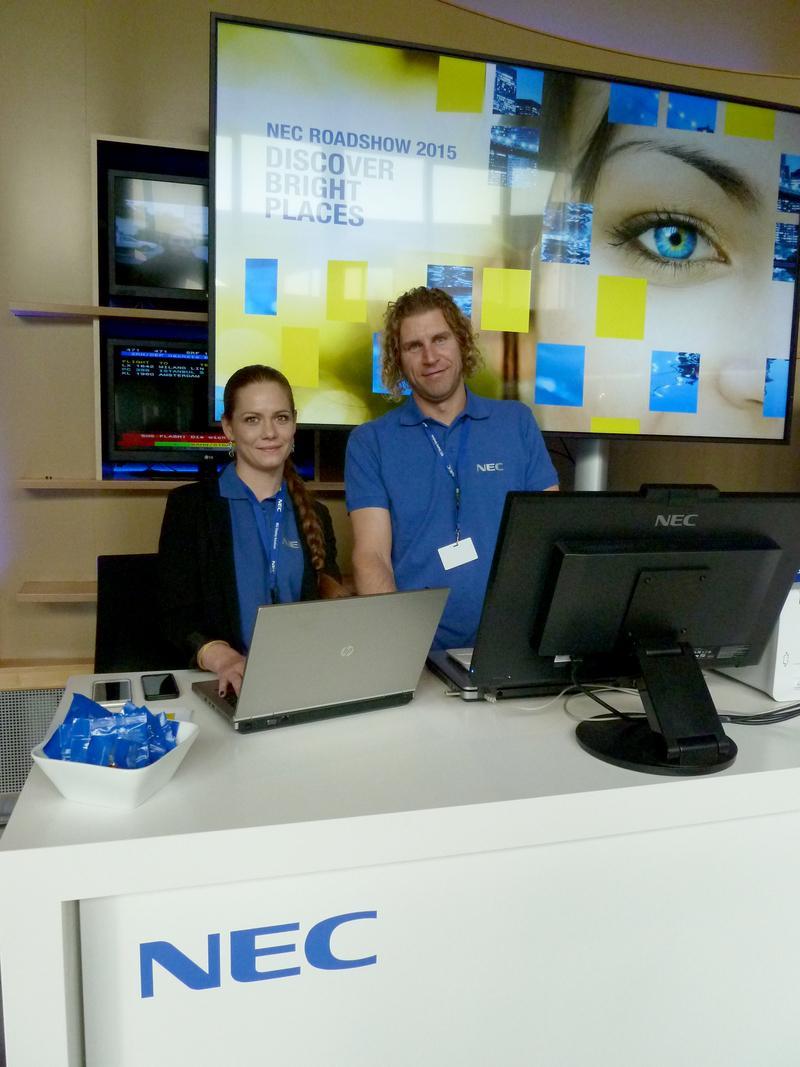 G+B begleitet NEC-Roadshow als Technikdienstleiter