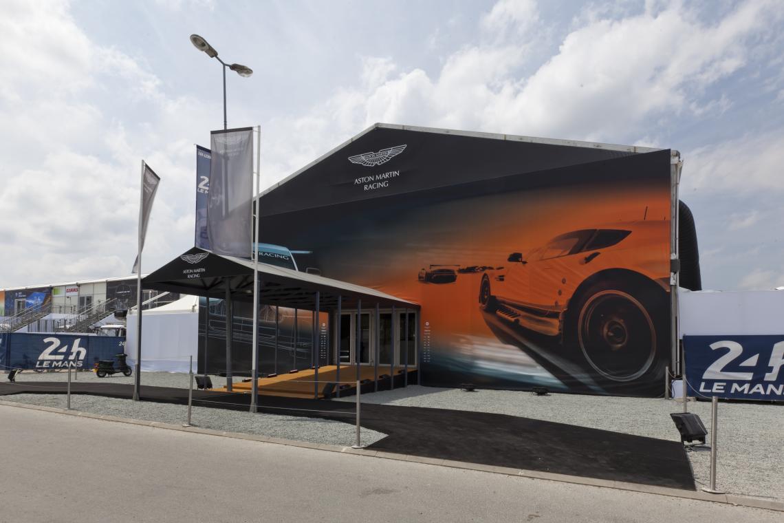 Neptunus stellt exklusive temporäre Gebäude beim 24-Stunden-Rennen von Le Mans zur Verfügung