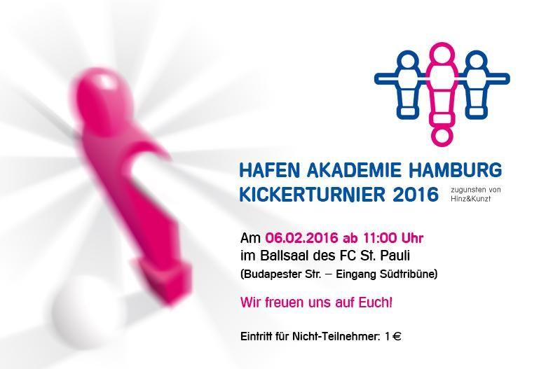 Hafenakademie Hamburg Kickerturnier zugunsten von Hinz&Kunzt