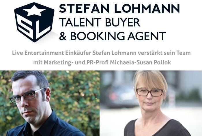 Live Entertainment Einkäufer Stefan Lohmann verstärkt sein Team.  Michaela-Susan Pollok übernimmt die Position als Pressesprecherin.