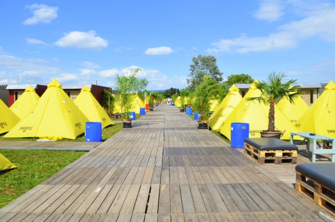 Frauenfeld mit Komfort - eps stattet das Openair Frauenfeld mit Flexotels und Zelten aus