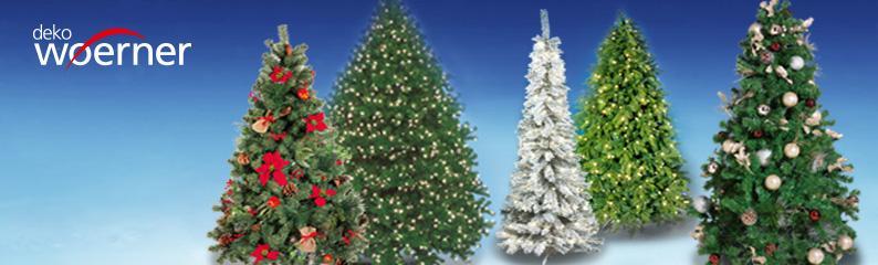 Deko Sepzialist Woerner - Naturnahe Weihnachtsbäume individuell gestalten